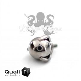 Accessoire QualiTi en titane & bille de titane de 4 mm , pour 1.2 mm