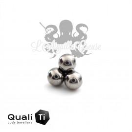 Trio de billes QualiTi en titane - pour 1.2 mm