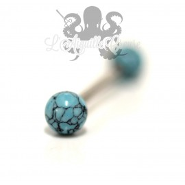Barbell et Turquoise synthétique
