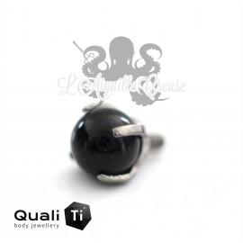 Accessoire QualiTi en titane & Onyx de 4 mm , pour 1.6 mm