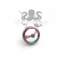Accessoire pour bijou en 1.6 mm, en titane et cristal Swarovski de 4 mm