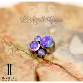 Accessoire Invictus en titane et opales synthétiques - pour 1.2 mm