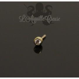 Accessoire en or jaune 18 carats orné d'un diamant Threadless