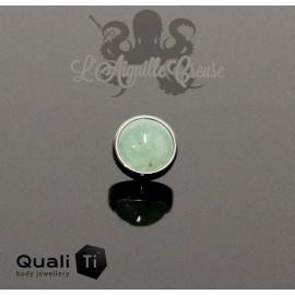 Cabochon de Jade QualiTi en titane - pour 1.2 mm