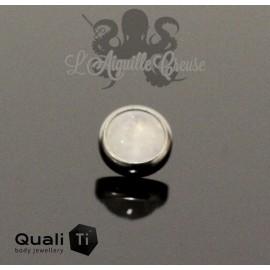 Cabochon de Moonstone QualiTi en titane - pour 1.6 mm