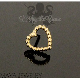 Tiny Love en or 14 carats Threadless - Maya