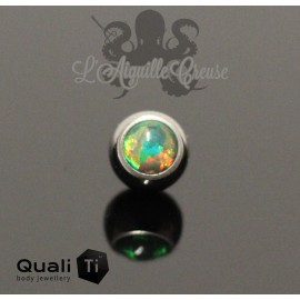 Bille d'opale synthétique QualiTi en titane - pour 1.6 mm