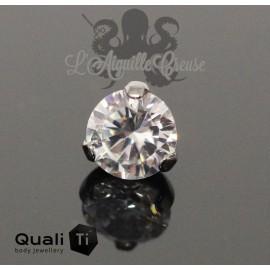 Accessoire QualiTi en titane & zircon de 8 mm, pour 1.6 mm