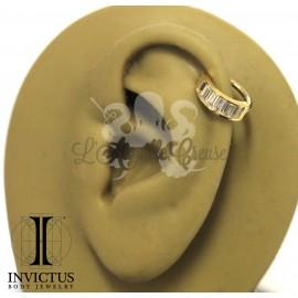 Anneau articulé en or jaune 14 carats Invictus