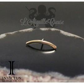 Barre curve en or 14 carats Threadless - Invictus