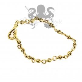 Bracelet en bronze crâne