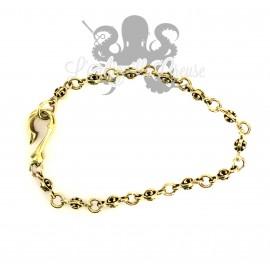 Bracelet en bronze fleur de lys