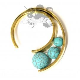 Poids en bronze et turquoise