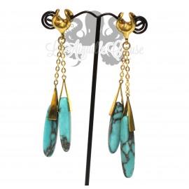 Saddle en Bronze et Turquoise