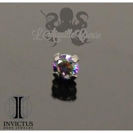 Accessoire Invictus en titane et zircon premium Vitrail griffé- pour 1.2 mm