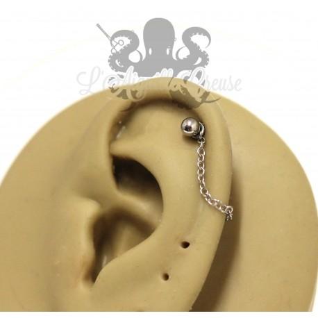 Charm chainette en acier 316L pour lier deux piercings