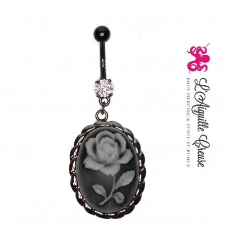 Camé Florale anodisé noir